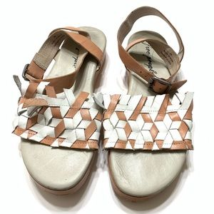 Free People strappy platform sandals sz 39